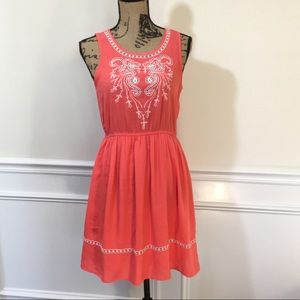 "ModCloth ""Invitation"" dress In Coral, Sz Med Doe +"